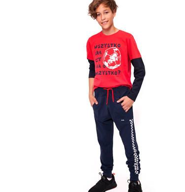Spodnie dresowe długie dla chłopca 9-13 lat C91K519_1