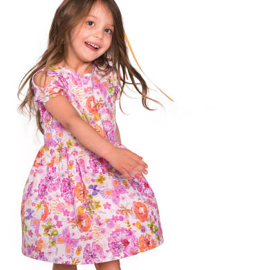 Endo - Sukienka z krótkim rękawem dla dziewczynki 3-8 lat D81H043_1