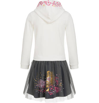 Endo - Sukienka z kapturem i długim rękawem dla dziewczynki 9-13lat D92H555_1