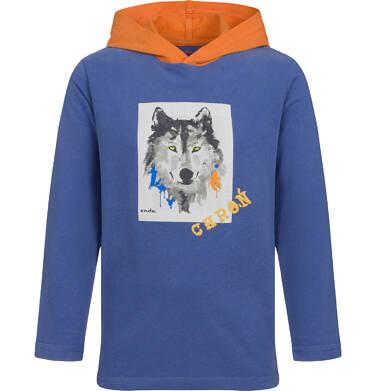 Endo - T-shirt z długim rękawem i kapturem dla chłopca, z wilkiem, 2-8 lat C04G111_1 19