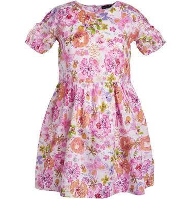 Sukienka z krótkim rękawem dla dziewczynki 9-13 lat D81H543_1