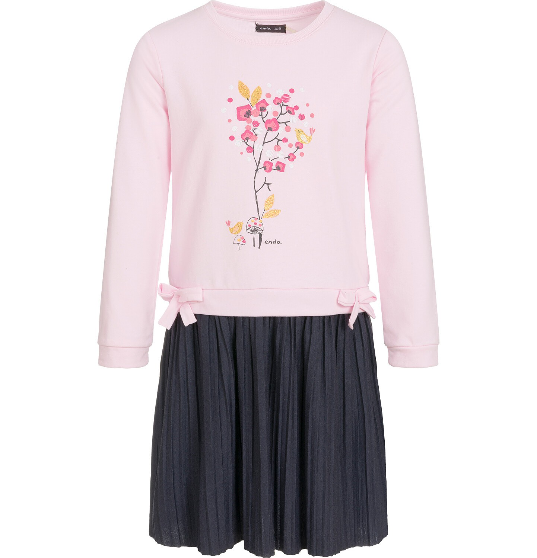 Endo - Sukienka z długim rękawem dla dziewczynki 9-13 lat D92H554_1