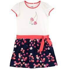 Dwukolorowa sukienka dla dziewczynki D61H025_1