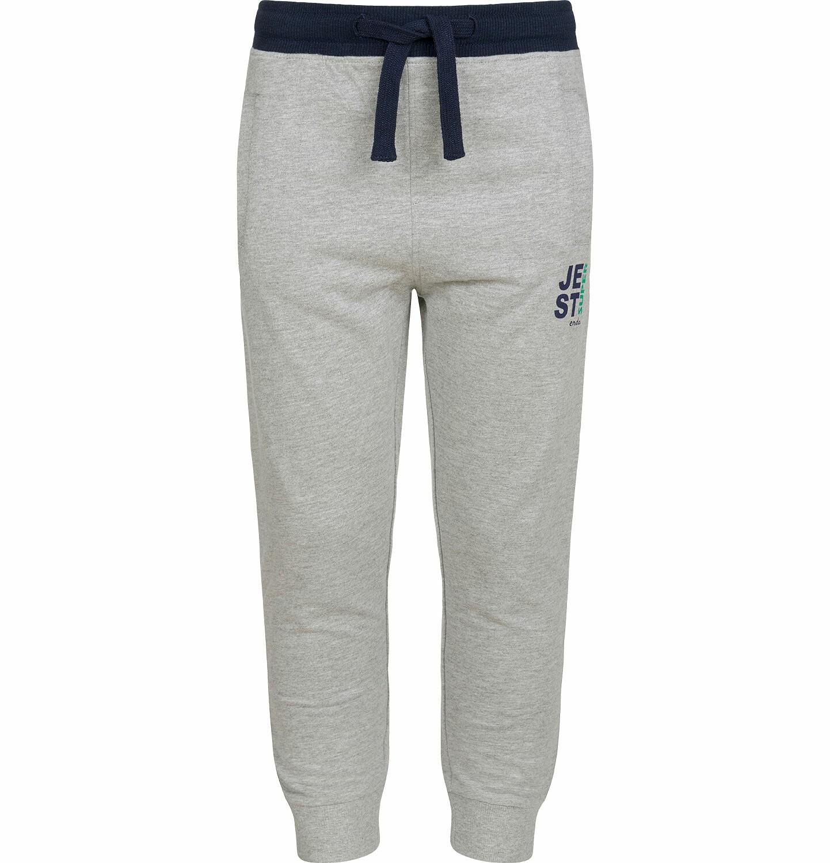 Endo - Spodnie dresowe dla chłopca, kontrastowe ściągacze, szare, 2-8 lat C03K025_1