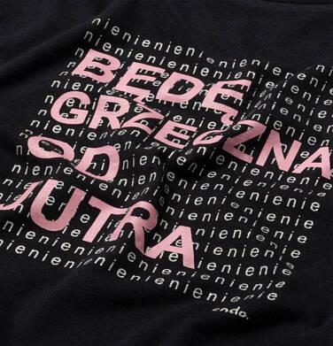 Endo - T-shirt damski, z napisem będę grzeczna, czarny Y06G010_1 9