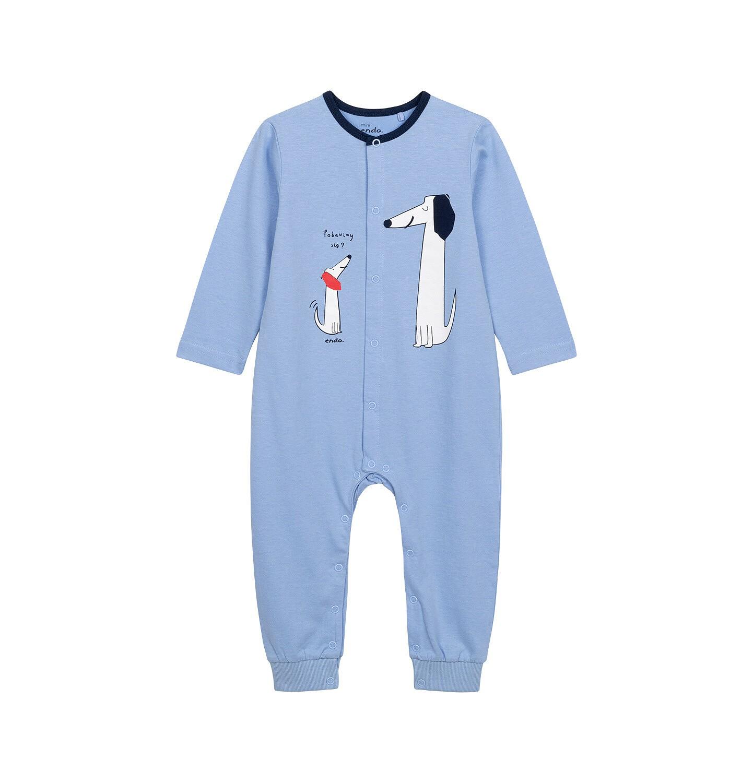 Endo - Pajac dla dziecka do 2 lat, z małym i dużym psem, niebieski N05N020_1