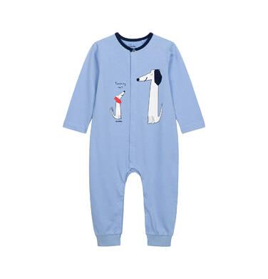 Endo - Pajac dla dziecka do 2 lat, z małym i dużym psem, niebieski N05N020_1,1