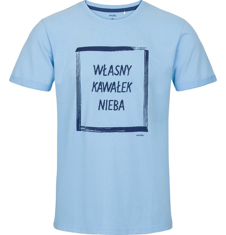 Endo - T-shirt męski z krótkim rękawem Q91G016_1