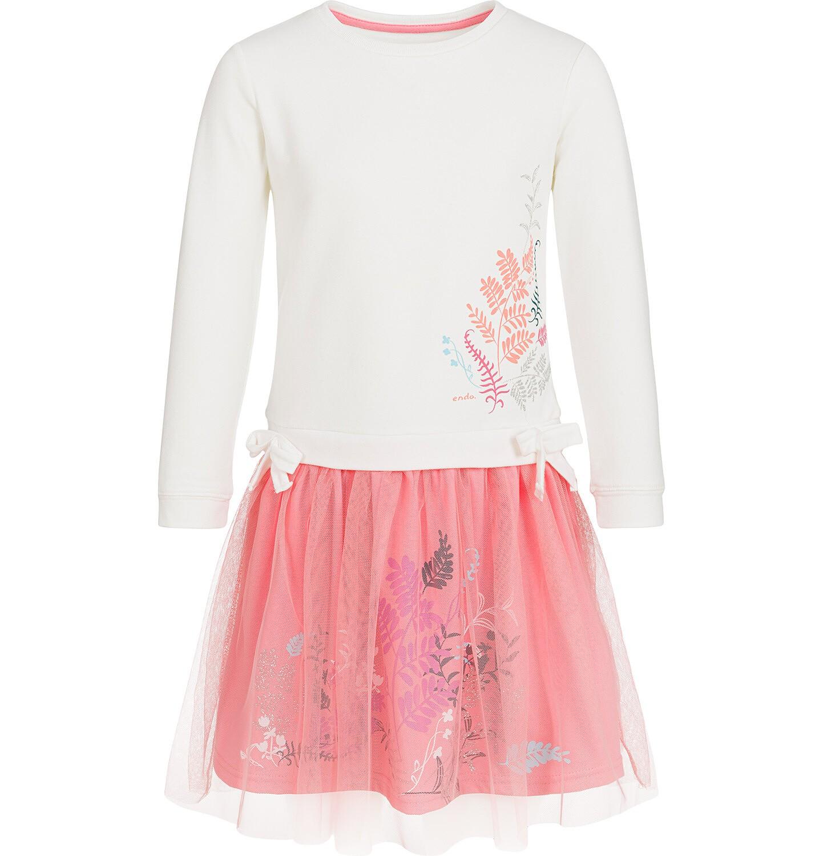 Endo - Sukienka z długim rękawem dla dziewczynki, z tiulowym dołem, 9-13 lat D92H549_1