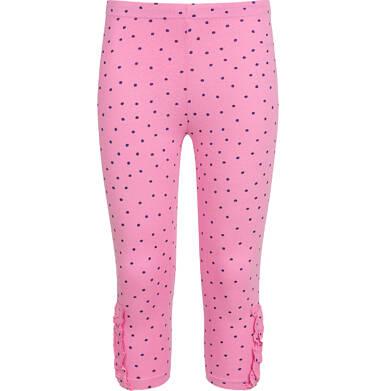 Endo - Legginsy 3/4 dla dziewczynki, w kropki, różowe, 3-8 lat D03K003_1