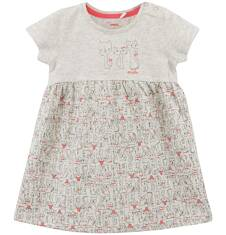 Melanżowa sukienka w deseń dla niemowlaka N61H001_1