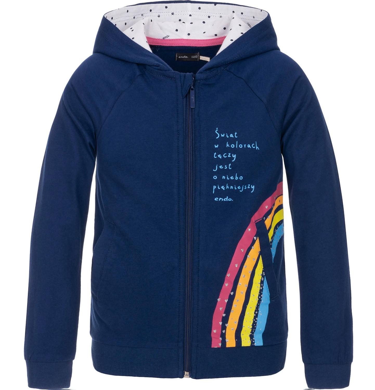 Endo - Bluza rozpinana z kapturem dla dziewczynki 3-8 lat D91C001_1