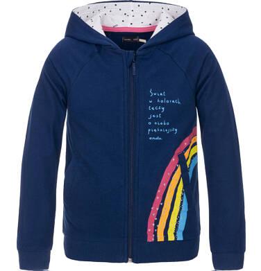 Bluza rozpinana z kapturem dla dziewczynki 3-8 lat D91C001_1