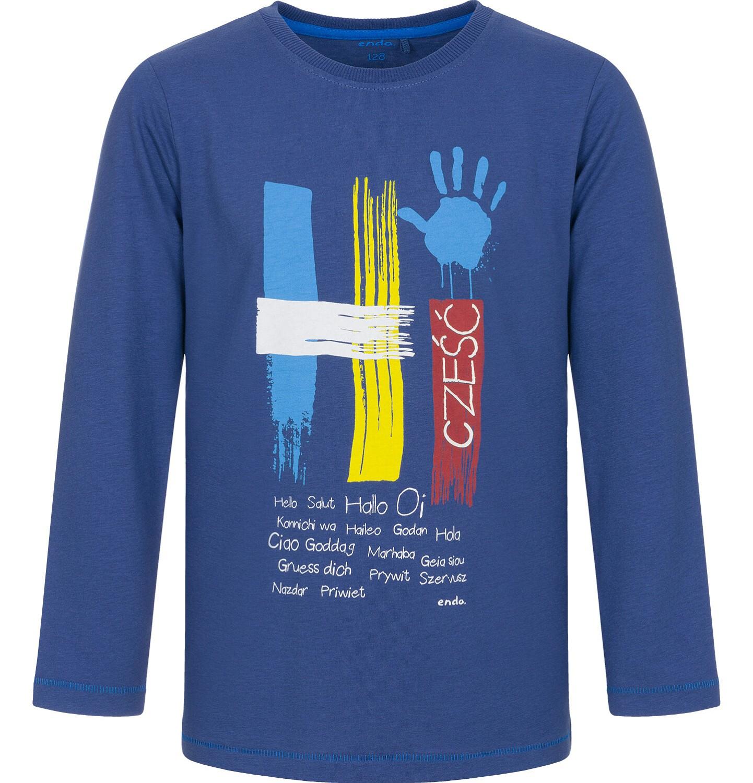 Endo - T-shirt z długim rękawem dla chłopca 9-13 lat C92G507_1