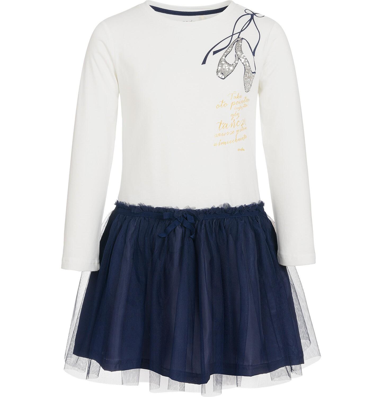 Endo - Sukienka z długim rękawem dla dziewczynki, z tiulowym dołem, 9-13 lat D92H545_1