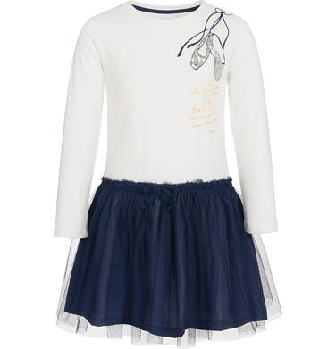 Endo - Sukienka z długim rękawem dla dziewczynki 9-13 lat D92H545_1