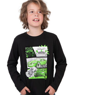 Endo - T-shirt z długim rękawem dla chłopca, z samochodami, 9-13 lat C04G176_1 33