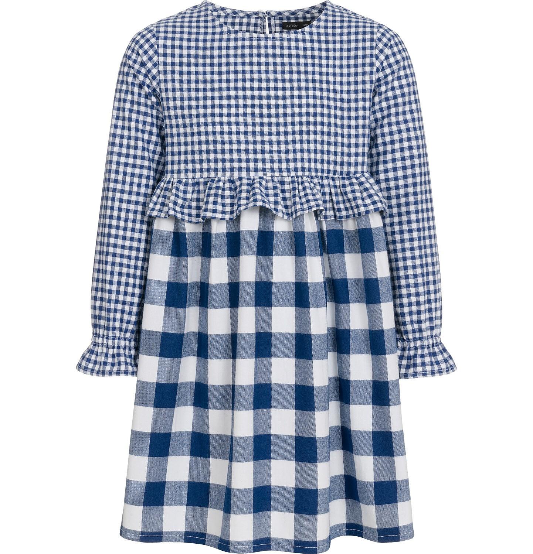 Endo - Sukienka z długim rękawem dla dziewczynki, w kratę, dwukolorowa, 9-13 lat D92H514_1