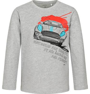 Endo - T-shirt z długim rękawem dla chłopca, z samochodem, szary, 9-13 lat C04G178_1 22