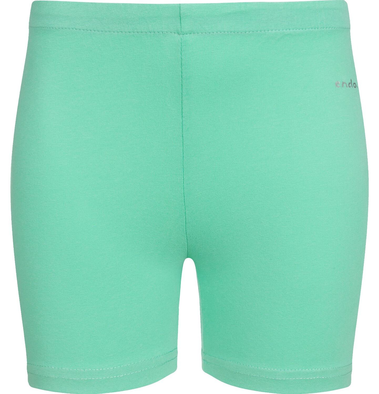 Endo - Krótkie legginsy dla dziewczynki, zielone, 9-13 lat D03K507_1