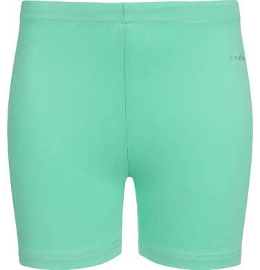 Endo - Krótkie legginsy dla dziewczynki, zielone, 9-13 lat D03K507_1 202