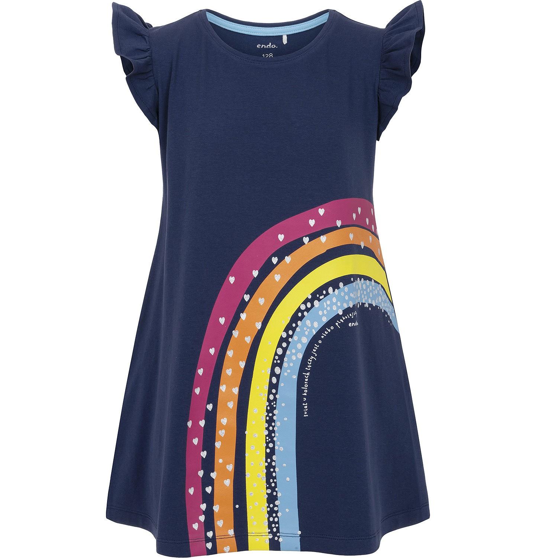 Endo - Sukienka z krótkim rękawem dla dziewczynki 3-8 lat D91H009_1