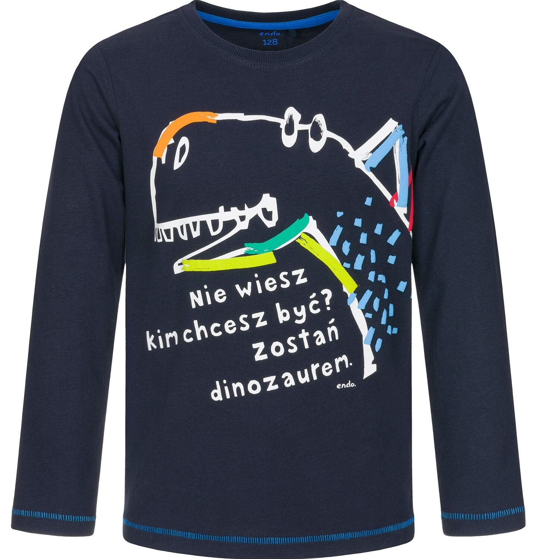 Endo - T-shirt z długim rękawem dla chłopca 3-8 lat C92G010_2