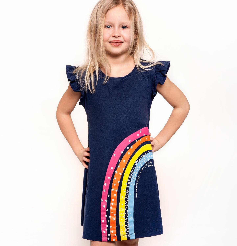 Endo - Sukienka z krótkim rękawem dla dziewczynki 9-13 lat D91H509_1