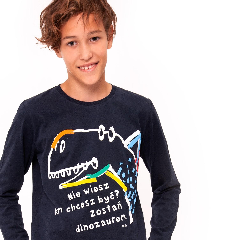 Endo - T-shirt z długim rękawem dla chłopca 9-13 lat C92G510_2