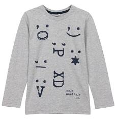 T-shirt z długim rękawem dla chłopca 3-8 lat C62G093_1