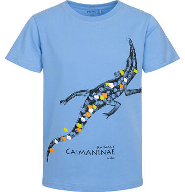 Endo - T shirt z krótkim rękawem dla chłopca, z kajmanem, niebieski, 2-8 lat C05G156_1 6