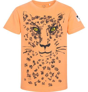 Endo - T-shirt z krótkim rękawem dla chłopca, z lampartem, pomarańczowy, 9-13 lat C05G067_1 9