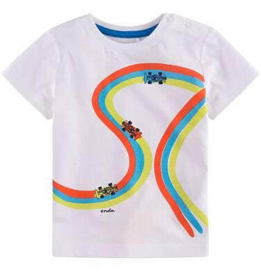Endo - Bluzka z krótkim rękawem dla dziecka 0-3 lata N71G047_1