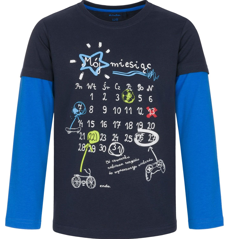 Endo - T-shirt z długim rękawem dla chłopca 9-13 lat C92G511_1