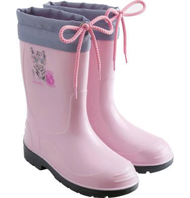 Endo - Kalosze dla dziewczynki, z tygrysem, różowe D03O005_1