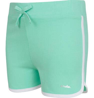 Endo - Krótkie spodenki dla dziewczynki, zielone, 2-8 lat D03K052_1 178