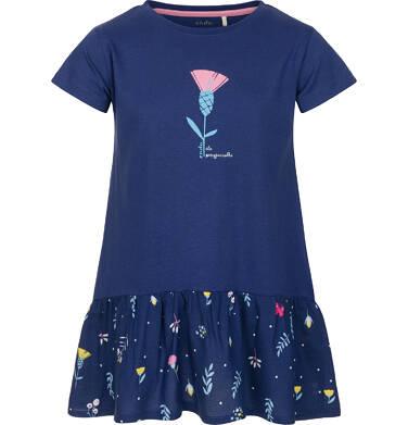 Tunika z krótkim rękawem dla dziewczynki 3-8 lat D91G112_1