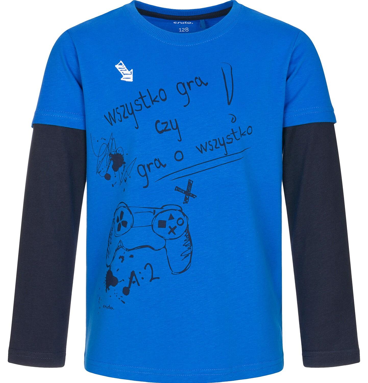 Endo - T-shirt z długim rękawem dla chłopca 3-8 lat C92G012_1
