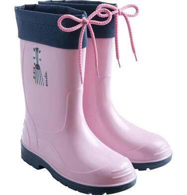 Endo - Kalosze dla dziewczynki, z zebrą, różowe D03O006_1