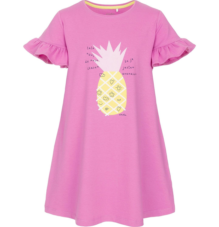 Endo - Sukienka z krótkim rękawem dla dziewczynki 3-8 lat D91H019_1