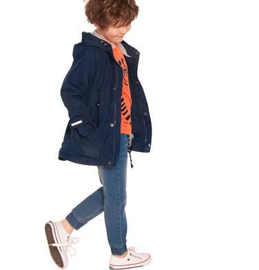 Endo - Wiosenna kurtka parka dla chłopca, z odblaskami, granatowa, 2-8 lat C03A001_1