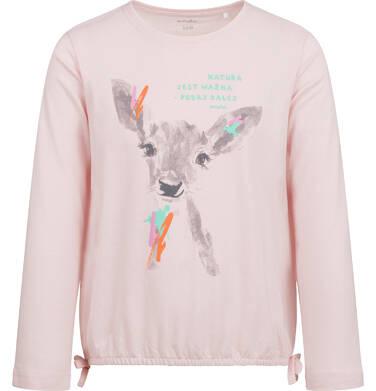 Endo - Bluzka z długim rękawem dla dziewczynki, z sarenką, różowa, 2-8 lat D04G030_1 5