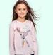 Endo - Bluzka z długim rękawem dla dziewczynki, z sarenką, różowa, 2-8 lat D04G030_1,1
