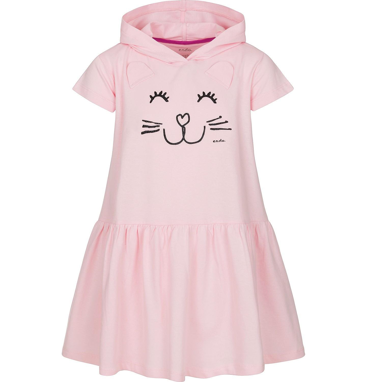 Endo - Sukienka z krótkim rękawem dla dziewczynki 3-8 lat D91H032_1