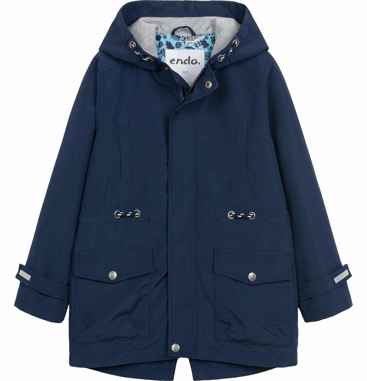 Endo - Przejściowa kurtka parka dla chłopca, z odblaskami, granatowa, 9-13 lat C03A501_1