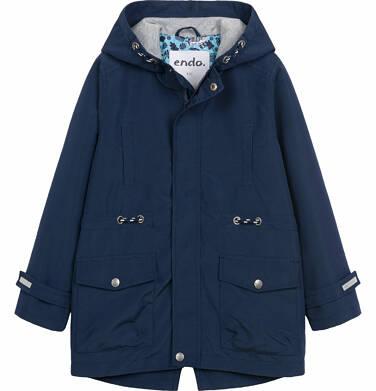 Endo - Wiosenna kurtka parka dla chłopca, z odblaskami, granatowa, 9-13 lat C03A501_1