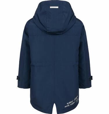 Endo - Przejściowa kurtka parka dla chłopca, z odblaskami, granatowa, 9-13 lat C03A501_1,2