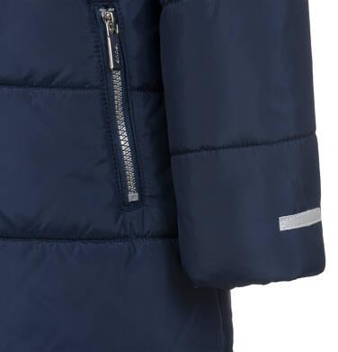 Endo - Długa kurtka zimowa, płaszcz z kapturem dla dziewczynki, granatowy, 9-13 lat D04A002_1,6