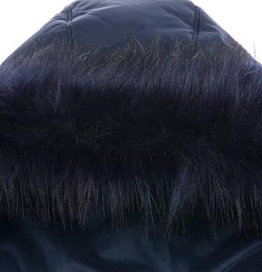 Endo - Długa kurtka zimowa, płaszcz z kapturem dla dziewczynki, granatowy, 9-13 lat D04A002_1,5