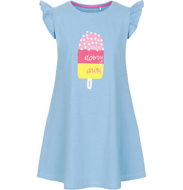 Sukienka z krótkim rękawem dla dziewczynki 3-8 lat D91H040_1